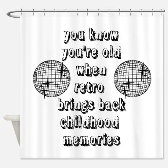Old Retro Shower Curtain