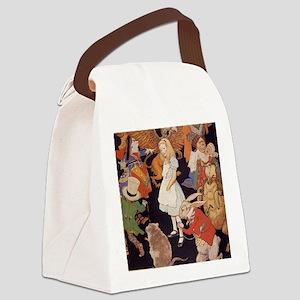 Alice in Wonderland 1923 illustra Canvas Lunch Bag
