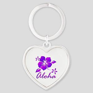Aloha Purple Keychains