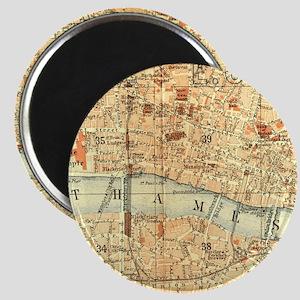 Vintage map of London Magnet