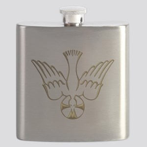 Golden Descent of The Holy Spirit Symbol Flask