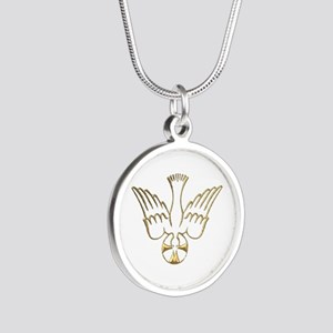 Golden Descent of The Holy Spirit Symbol Silver Ro