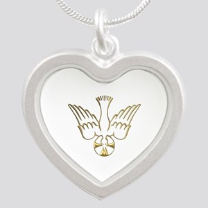 Golden Descent of The Holy Spirit Symbol Silver He