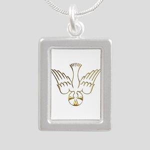 Golden Descent of The Holy Spirit Symbol Silver Po