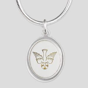 Golden Descent of The Holy Spirit Symbol Silver Ov