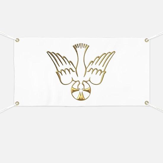 Golden Descent of The Holy Spirit Symbol Banner