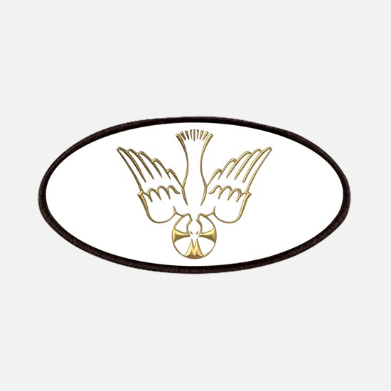 Golden Descent of The Holy Spirit Symbol Patches