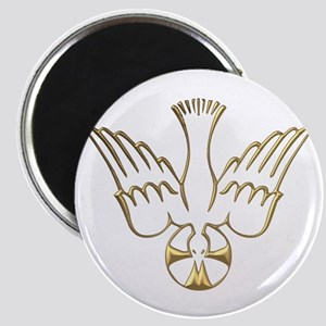 Golden Descent of The Holy Spirit Symbol Magnet