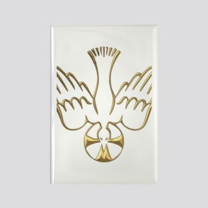 Golden Descent of The Holy Spirit Symbol Rectangle