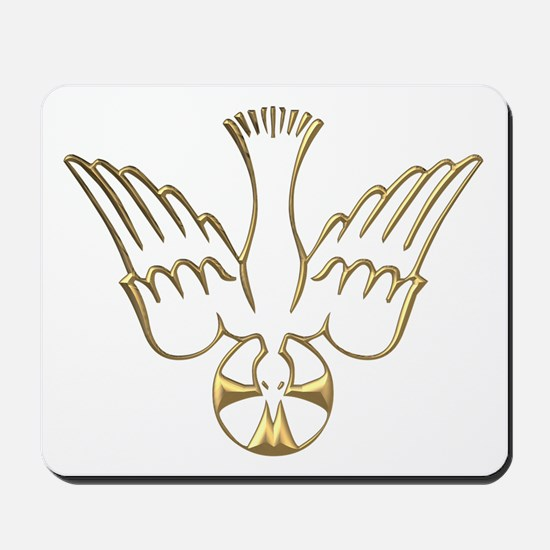 Golden Descent of The Holy Spirit Symbol Mousepad