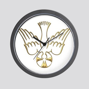 Golden Descent of The Holy Spirit Symbol Wall Cloc