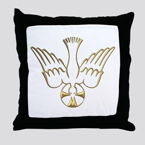 Golden Descent of The Holy Spirit Symbol Throw Pil