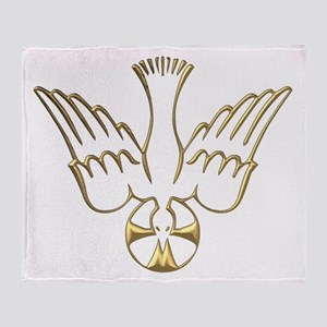 Golden Descent of The Holy Spirit Symbol Throw Bla
