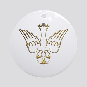 Golden Descent of The Holy Spirit Symbol Ornament