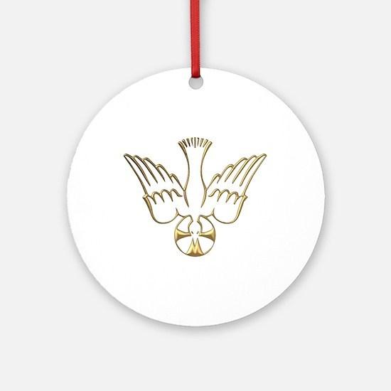 Golden Descent of The Holy Spirit Symbol Ornament