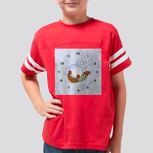 turtle_snowball_clock Youth Football Shirt