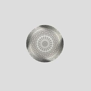 Metal Element kaleido pattern Mini Button