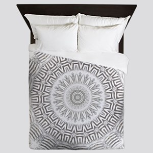 Metal Element bordered kaleido pattern Queen Duvet