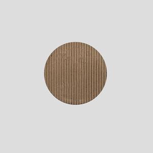 Brown corrugated cardboard graphic Mini Button