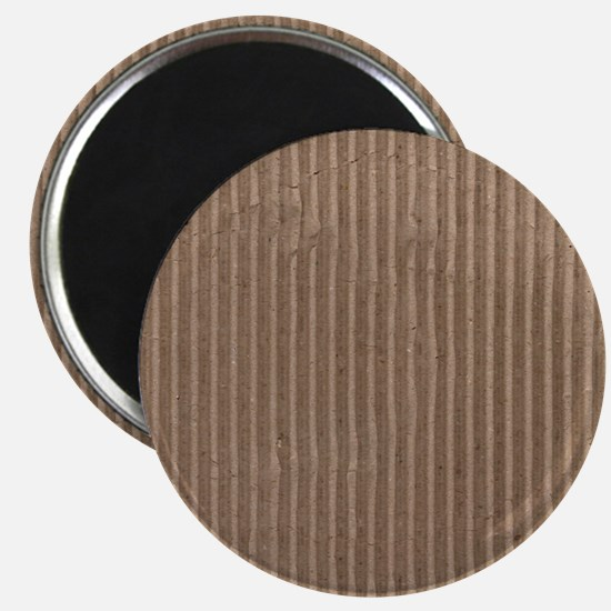 Brown corrugated cardboard graphic Magnet