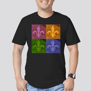 Fleur De Lis Art copy Men's Fitted T-Shirt (da