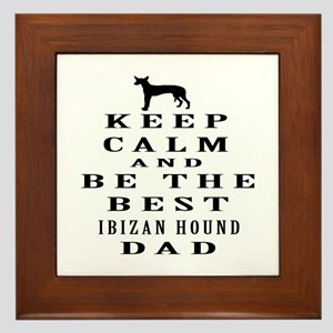Ibizan Hound Dad Designs Framed Tile