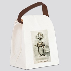 The jolly smoker - 1880 Canvas Lunch Bag