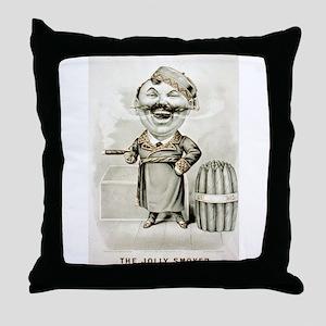 The jolly smoker - 1880 Throw Pillow