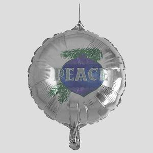 Christmas Peace Ornament Mylar Balloon