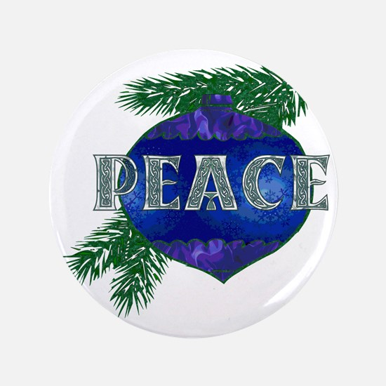"Christmas Peace Ornament 3.5"" Button"