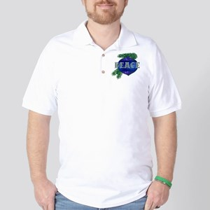 Christmas Peace Ornament Golf Shirt
