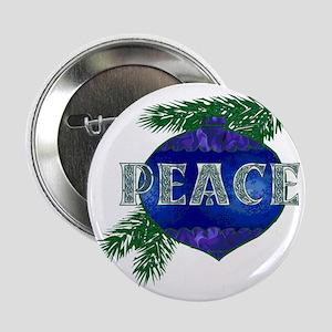 "Christmas Peace Ornament 2.25"" Button"