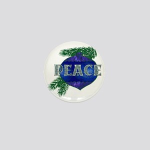 Christmas Peace Ornament Mini Button