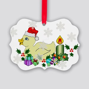 Christmas Duckie Picture Ornament