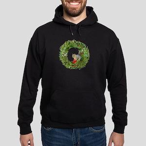Squirrel Wreath Candle Hoodie (dark)