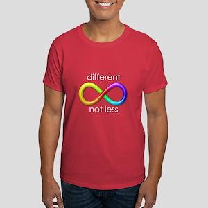 Different, Not Less (white type) Dark T-Shirt