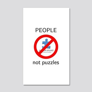PEOPLE not puzzles 20x12 Wall Decal