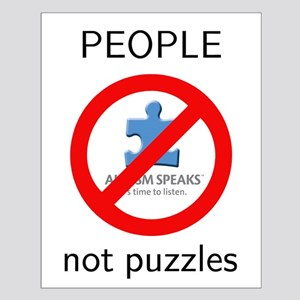 PEOPLE not puzzles Small Poster