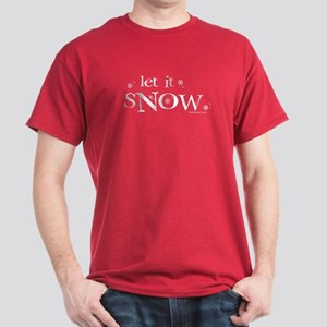 Let It Snow Dark T-Shirt