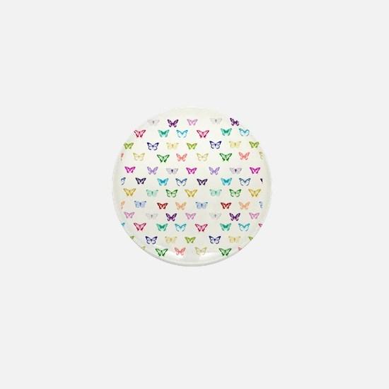 Rainbow butterfly pattern Mini Button