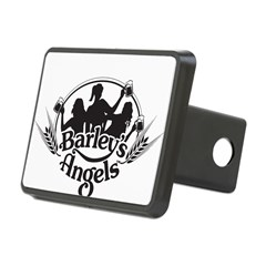 Barley's Angels black and white logo Hitch Cover