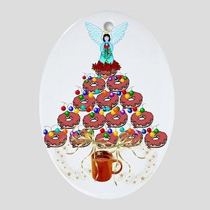 Doughnut Angel Tree Oval Ornament