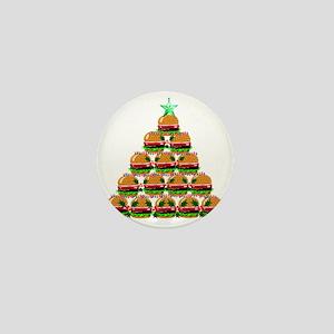 Hamburger Christmas Tree Mini Button