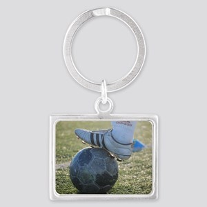 soccer practice Landscape Keychain