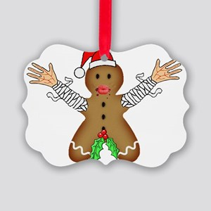 Zombie Gingerbread Picture Ornament