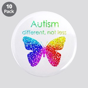"""Autism Butterfly, different, not less 3.5"""" Bu"""
