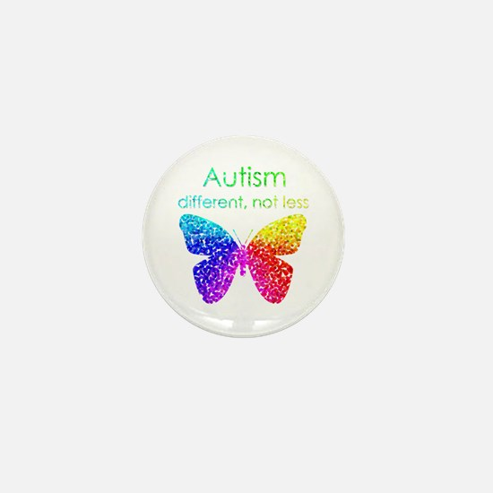 Autism Butterfly, different, not less Mini Button
