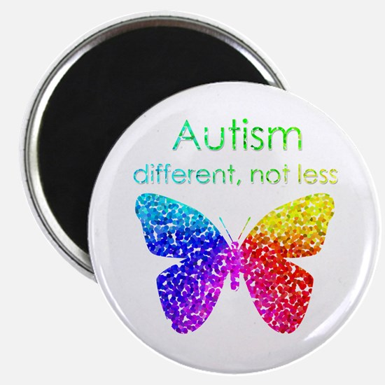 "Autism Butterfly, different, not less 2.25"" M"
