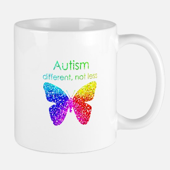 Autism Butterfly, different, not less Mug