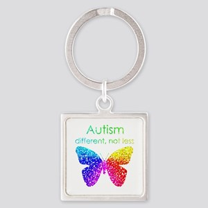Autism Butterfly, different, not less Keychains